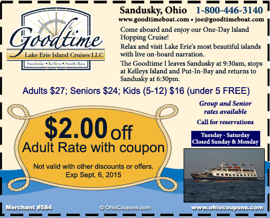 Goodtime I - Lake Erie Island Cruises