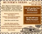 Hunter's Needs