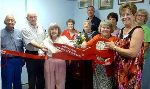 Ribbon cutting ceremony at Art at 106, Bellevue Artist Guild, Ohio 44811